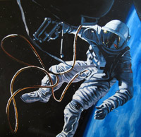 Gemini space walk mural